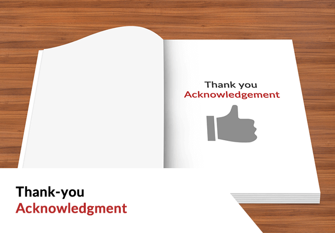 Thank-you Acknowledgment